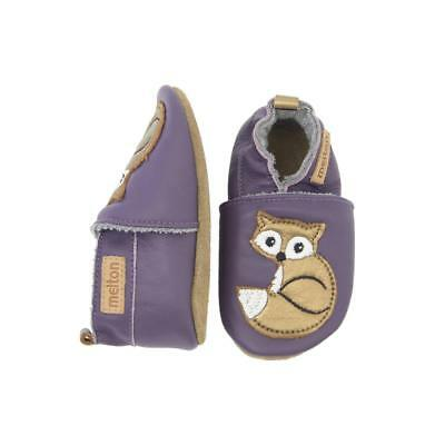 Melton Zapatos de gateo Fox Dark Purple Talla 6-12,12-18. 18-24,24-36 meses