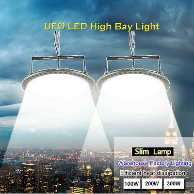 100W 200W 300W UFO LED High Bay Light Factory Gym Shed Lighting Industrial Lamp