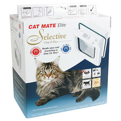 CAT MATE PORTE Elite SEL chip&disc blanc, NEUF