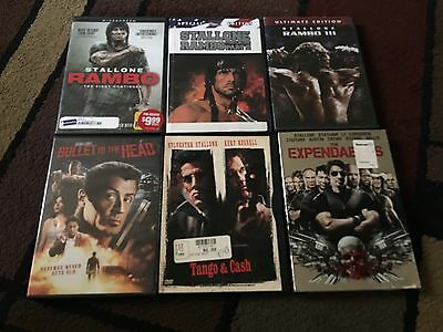 Lot Of 6 Sylvester Stallone Movies, Dvds
