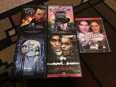 Lot Of 5 Johnny Depp Movies, Dvds