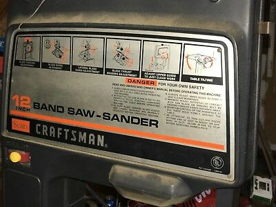 """Craftsman 12"""" Band Saw / Sander with metal cutting """"speed reducer""""   P- 41  L- 5"""