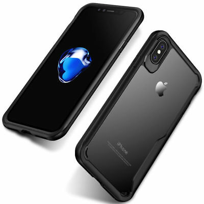 For iPhone X XS Max Case Cover Shockproof Hybrid Armor Hard Clear Back Silicone