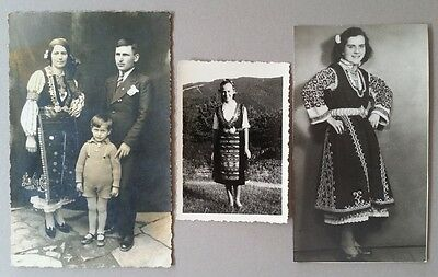 Rare ANTIQUE ORIGINAL SET 3ps. photo of costumes from Balkan-OTTOMAN ERA