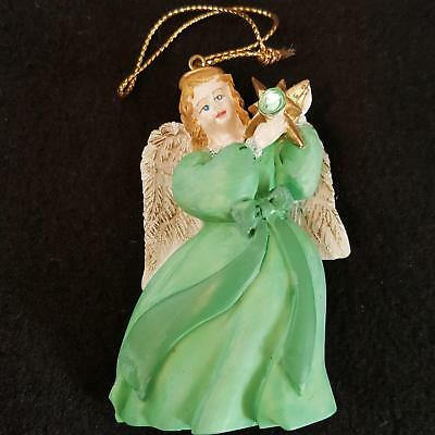 Avon Gift Collection Angel August Birthstone Ornament Simulated Peridot 1995