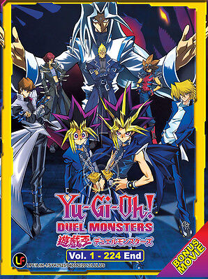 Anime DVD: Yu Gi Oh! Duel Monsters (Vol.1-224 End + Movie) *Eng_Sub* + Extra DVD