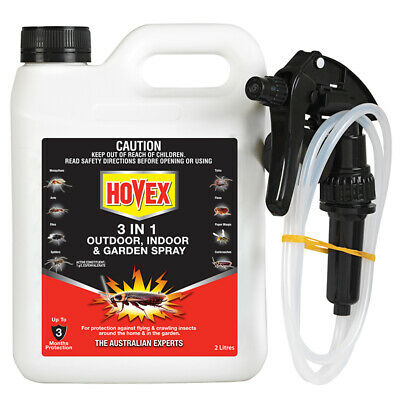 Hovex 3 in 1 INDOOR OUTDOOR GARDEN CRAWLING FLYING INSECT protect 2L FREE SHIP