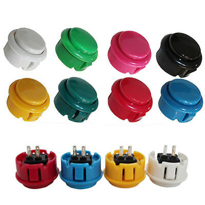 30MM Round Push Button Replacement For Arcade Parts Sanwa OBSF-30 Buttons MAMA