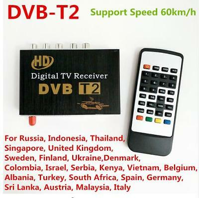 DVB-T2 MPEG-4 MPEG-2 Car Digital TV Receiver Box For Russia Colombia Israel