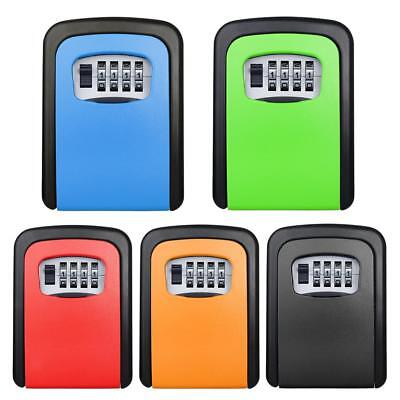 4 Digit Wall Mounted Weather Resistant Combination Key Safe Box Lock 4 Colors
