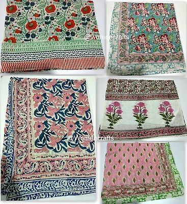 5 Pc Wholesale Lot Indian Hand Block Print Women Scarf Decorative Stole Sarong