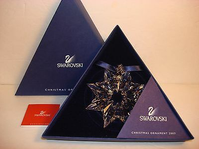2003 Swarovski Crystal Ornament Snowflake Original Box Certificate *new*