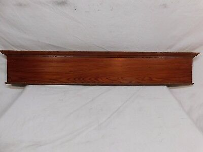 Antique Door Pediment Lintel Crown Molding - C. 1905 Fir Architectural Salvage