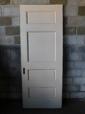 Antique Victorian Interior Glass Door - C. 1885 Butternut Architectural Salvage