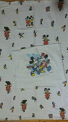 Disney Bettwäsche vintage bedding Mickey and Minnie Vespa sport 80s 90s fabric