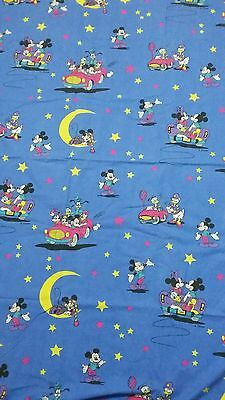 Disney Bettwäsche bedding Mickey Maus Mond vintage 80s 90s fabric bedlinen