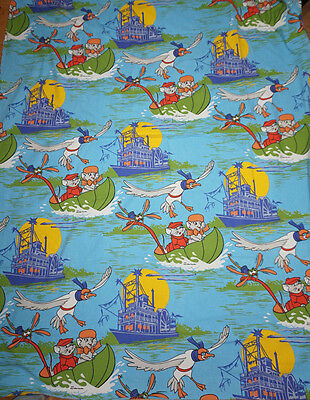 Disney Bettwäsche bedding Bernhard und Bianca The Rescuers vintage 70s fabric