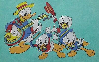 Disney Bettwäsche bedding bedlinen Donald Duck vintage 70s 80s fabric