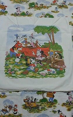 Disney Bettwäsche bedding Micky Maus vintage Mickey Minnie 70s 80s Klarabella