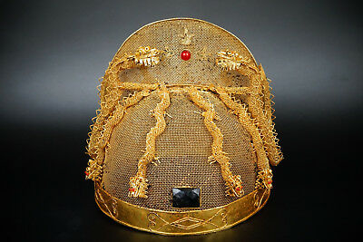 A Fine Collection Chinese 15thC Ming Gold and Silver Emperor Chapeau