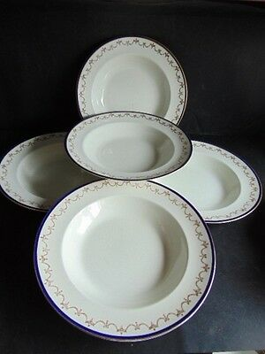 Booths Casket Border Dinner Set (5 Pieces) In Good Condition