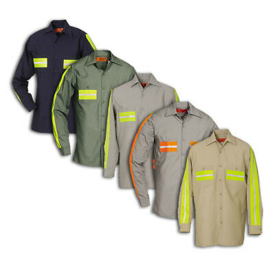 Enhanced Visibility Work Shirts Reflective REED Long Sleeve Industrial Uniform