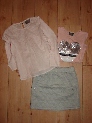 Cooles Creamie 3 er 3 tlg. Set  2 x LA-Shirt  plus Rock Gr. 122 cm