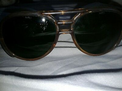Vintage AO American Optical ?? Aerosite brown Safety Glasses Sunglasses Z87