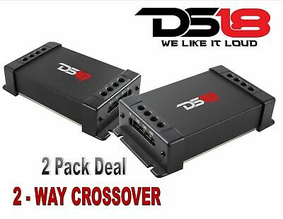 (2) DS18 PRO-CFX Passive 2 Way Car Audio Crossover  Two Way Speaker Tweeter 300W