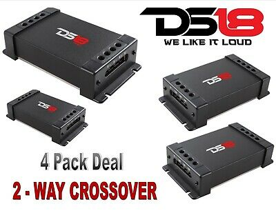 (4) DS18 PRO-CFX Passive 2 Way Car Audio Crossover  Two Way Speaker Tweeter 300W