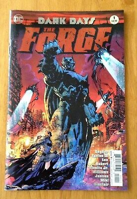 Dark Days the Forge # 1 Foil Stamped 1st Print DC 2017 NM