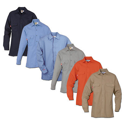 FR Clothing Shirts Flame Resistant 88/12 Blend Industrial Work Uniform REED HRC2