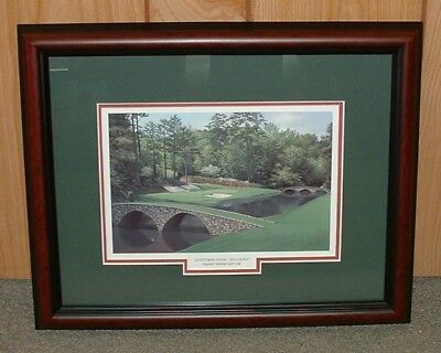 "Framed Augusta National golf print- 12th Hole MASTERS 13""x16"" overall size"