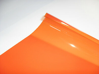 105 ORANGE Heat Proof Coloured Transparent Acetate Gel Sheet Crafts Lighting