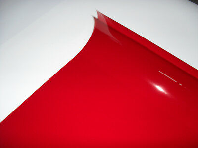 106 PRIME RED Heat Proof Coloured Transparent Acetate Gel Sheet Crafts Lighting