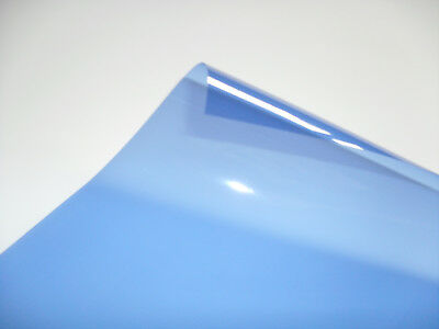 202 HALF BLUE Heat Proof COLOURED Transparent Acetate Sheet Crafts Lighting GEL