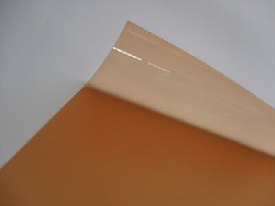 205 HALF ORANGE Heat Proof COLOURED Transparent Acetate Sheet Crafts Lighting