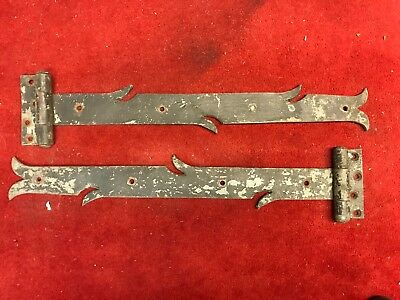 2 Antique Iron Barn Door Wood Gate Hinge Architectural Hardware