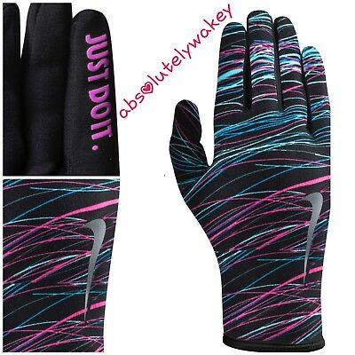 Nike Lightweight Printed Rival 2.0 Women's Running Gloves  Thermal Xtrasmall