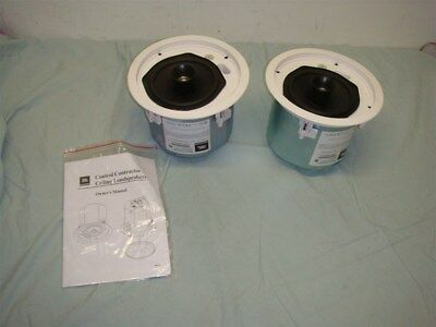 "Jbl Control 26Ct Contractor Series 6.5"" Vented In Ceiling Speaker Pair -Read!"