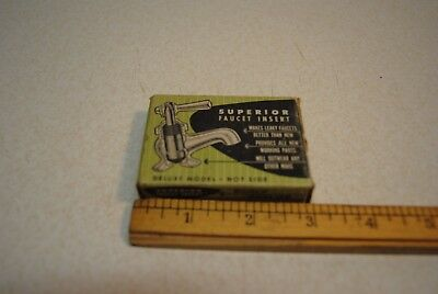 Vintage Superior Faucet Insert hot side deluxe model