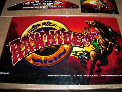 Konami Rawhide Top Glass/top And Belly Plaque (No Software)