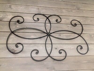 Large Decorative Rustic Twisted Scroll Wrought Iron Metal Wall Art  Decor 30X20