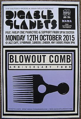 DIGABLE PLANETS 2015 Gig POSTER Camden London UK Concert Blowout Comb