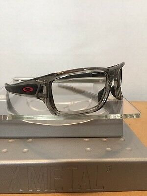 ~~Oakley Turbine Clear Smoke Frame Red Icons Fast Free S/H~~