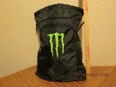 Monster Energy Bag Cinch Sack Backpack 20 x 14 audio 2017 New FREE SHIPPING