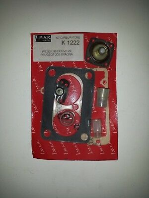 Kit revisione carburatore Peugeot 205 Spagna 1442cc Weber 36 DCNVH 20