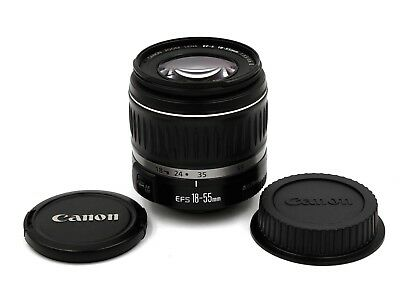 Canon EF-S 18-55mm f/3.5-5.6 II Lens with Caps