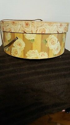 Vintage Large Hat Box Floral