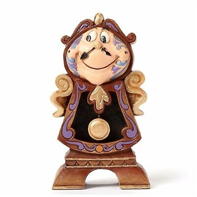 Disney Traditions by Jim Shore Beauty and the Beast Cogsworth Stone Resin... NEW